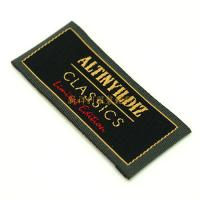 Buy cheap Colorful End Folded Custom Woven Labels Low Minimum For Textile / Clothing from Wholesalers