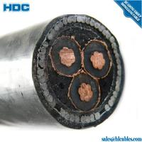 Buy cheap 11KV voltage copper XLPE SWA/STA armoured cable 3 core 185 sq mm from Wholesalers