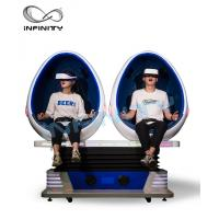 China 2 Person 9D Cinema Simulator / Electric System Virtual Reality Egg Chair factory