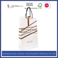 China Gold Hot Stamping Kraft Paper Bags , Paper Gift Bags With Handles HEIDEL on sale