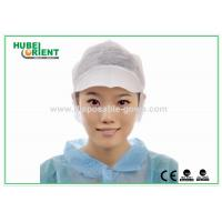 PP Single Snood Cap Disposable Head Cap with Peak and Hairnet