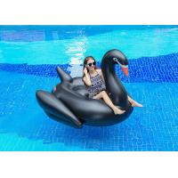 Buy cheap Semicircle Inflatable Pool Floats Black Color Giant Inflatable Swan Pool Float from Wholesalers