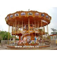 Buy cheap Double deck carousel 48 seats amusement rides for sale from Wholesalers