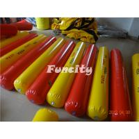 Buy cheap Yellow / Red Color Inflatable Buoys For Water Park , Water Fence / Inflatable Buoys from Wholesalers