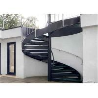 Buy cheap Strong Residential Spiral Staircase Wood Treads , Compact Spiral Staircase For Outdoor Deck from wholesalers
