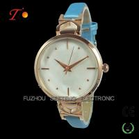 Buy cheap Beautiful thin gold color lady wrist watch with shell dial face from Wholesalers
