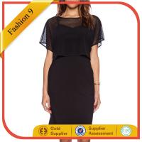 Buy cheap RAYON  MESH OVERLAY DRESS from Wholesalers