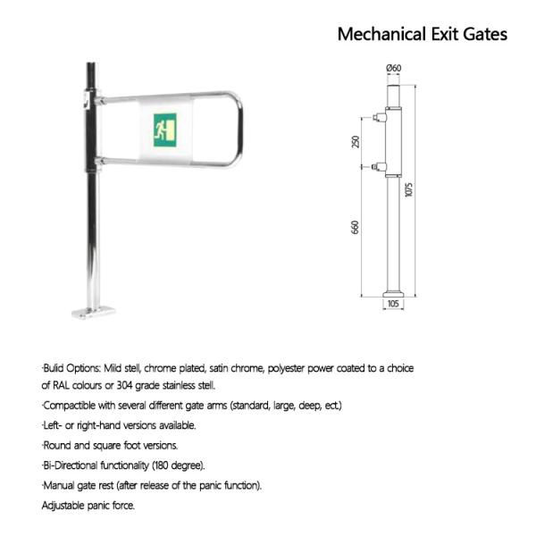 Dual Mechanical Gate Supermarket Swing Gate