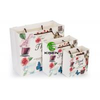 China Disposable White Paper Gift Bags , CMYK Bulk Shopping Bags With Handles on sale