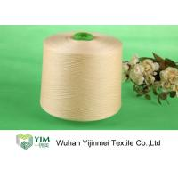 Full Dull Dyed Polyester Yarn , Bright Core Spun Yarn With Plastic Tube