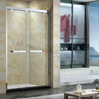 Buy cheap Tempered Glass Shower Double Sliding Door 304# Stainless Steel Frame from Wholesalers