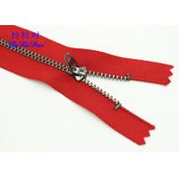 Buy cheap Semi - Lock Slider 9 Inch Jeans Metal Zipper Yg Fastener Red / Blue Tape Customized from Wholesalers