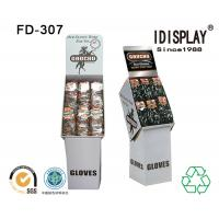 Buy cheap Big Pocket Merchandising Cardboard Floor Displays / Foldable Display Stand Corrugated from Wholesalers