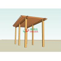 Prefab wood plastic composite pergola structure for garden / 6mx4m / OLDA-5015