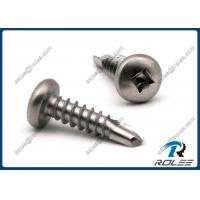 China 304/316/410 Stainless Steel Robertson Square Pan Head Self Drilling Screws on sale