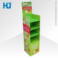 Customized Advertising Cardboard Pallet Display , 4 Tiers Floor Display Stand