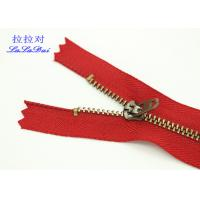 Buy cheap Custom 5 Inch Vintage Jeans Metal Zipper 4YG Slider Double Top Stop For Jeans And Pocket from Wholesalers