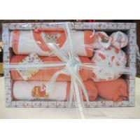 China All Cotton dyeing New Born Baby Christening Gift Sets with Baby Wear and Socks on sale