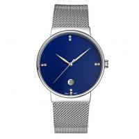 Buy cheap Customiz logo fashion alloy wrist watch with S/S mesh band ,quartz movement wrist watch from Wholesalers