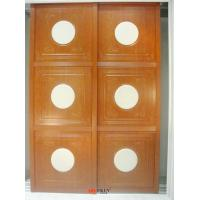 China Wood Grain Uptake MDF Carved wardrobe closet sliding door height 1900mm-2400mm on sale