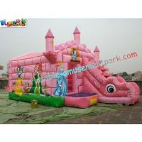 Buy cheap Commercial Durable Inflatable Bouncer Slide , Princess Bounce House With Slide Games from Wholesalers