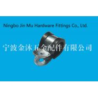 China professional 9 mm Bandwidth R Type Gas Hose Clamps With Black Rubber Lined on sale