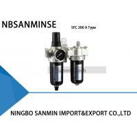 Buy cheap Two Units Air Filter Regulator Lubricator  FRL Units Air Compressor Filter Regulator Sanmin from Wholesalers