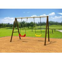 China Standard Size Kindergartens Childrens Swing Set With Two Plastic Seats KP-G006 on sale