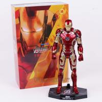 China wholesale   new  Hot Toys Avengers Iron Man Mark MK 43 with LED Light PVC Action Figure Collectible Model Toy on sale