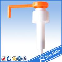 Buy cheap Orange & white long nozzle plastic 28mm lotion pump for medical use from Wholesalers