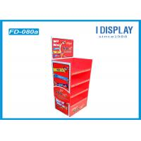 Buy cheap Chocolate Floor Cardboard Poster Display Stands With Easy Assembly from Wholesalers