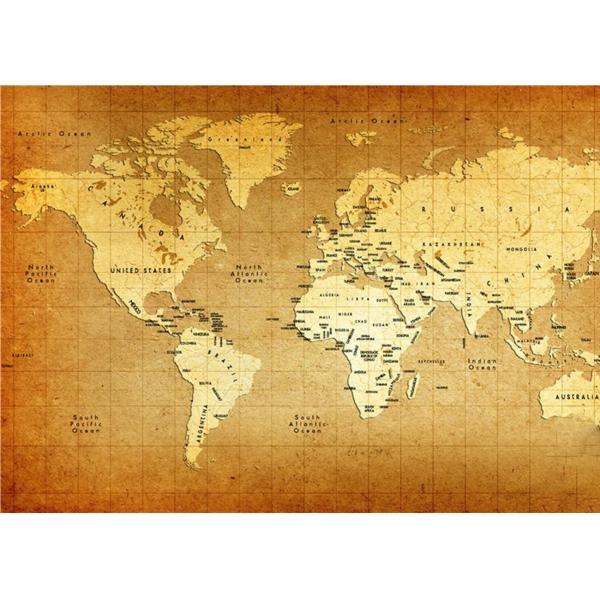 World Map Interior Decorative Wall Panels For TV Wall , 5mm 7mm 9mm ...