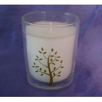 Buy cheap Custom flameless Jasmine Glass Scented Candle, Soy Candles Jar  TS-CC056 from Wholesalers