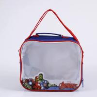 China Long Rope PVC Storage Bags / Blue Reusable Surface Clear PVC Handbags on sale