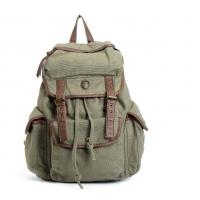 Buy cheap Vintage Canvas Leather Backpack School Bag Satchel For Outdoor Hiking / Climbing from Wholesalers