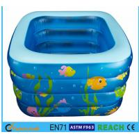 Square Inflatable Swimming Pool Sea Animal Printing Easy Setting Up For Kids Toy