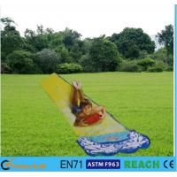 OEM Inflatable Summer Water Slides Small Space PVC Colorful Print Slip N Slide