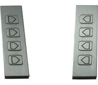 Panel Mount Stainless Steel Obverse Etching Metal Function Keys / Metal Trackball