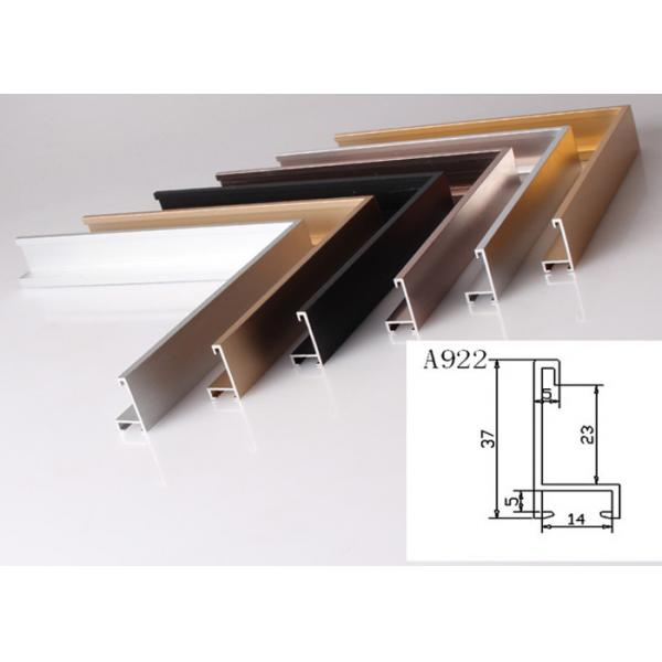 Anodized Aluminum Metal Picture Frame Moulding Customized Long ...