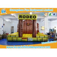 Buy cheap 5 * 5m Inflatable Bouncy Castle / Inflatable Jumping Mat For Mechanical Rodeo Bull from Wholesalers
