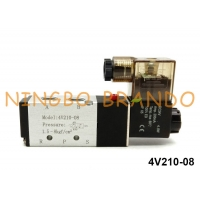 China 1/4\ NPT 4V210-08 Pneumatic Solenoid Valve Airtac Type 5/2 Way 220V factory