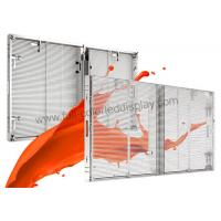 Buy cheap Full Color Mesh Curtain Transparent LED Video Wall Display P7.81 Ultra Power Saving from Wholesalers