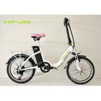 Buy cheap Lady Style 20 Inch Wheel Foldable Electric Bike Aluminum Frame With Shimano Derailleur from Wholesalers