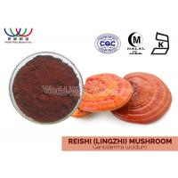 Buy cheap Organic Lingzhi Mushroom Extract , Pharmaceutical Grade Red Reishi Extract from Wholesalers