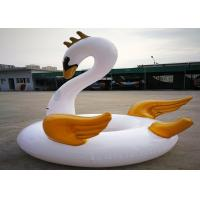 Buy cheap Water Swimming Swan Inflatable Floating Toys with Golden Wing 180cm from Wholesalers