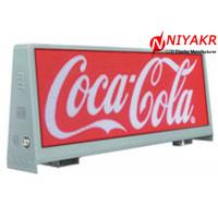 China High Brightness P5 LED Taxi Top Advertising Double Sides 5000 Cd/sqm