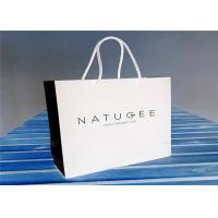 China Eco - Friendly Customized Paper Gift Bags , White Retail Paper Carrier Bag on sale
