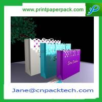 China Bespoke Fashion Carrier Bag Colorful Paper Gift Bag Kraft Paper Bag Shopping Bag on sale