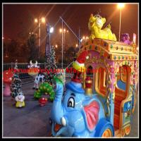 Buy cheap 16 seats  Amusement Rides Big Amusement Park Equipment Elephant Trackless Train from wholesalers