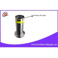 Rugged Automatic Retractable Security Bollards / Hydraulic Rising Bollards For Bank
